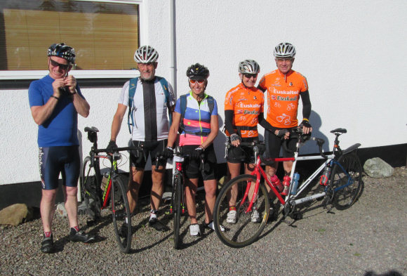 Cyclists at Forest Lodge